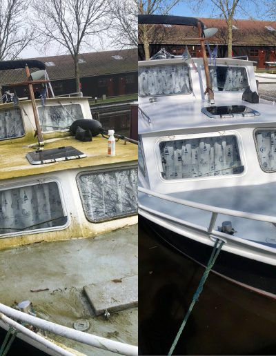 schoonmaken van boten